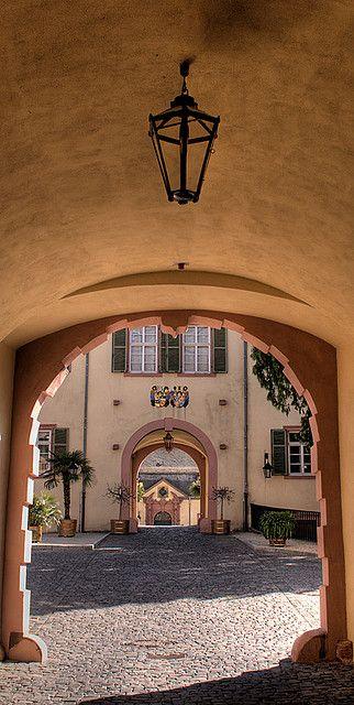Entrance to the Bad Homburg Schloss, Main-Taunus-Kreis, Hesse, Germany