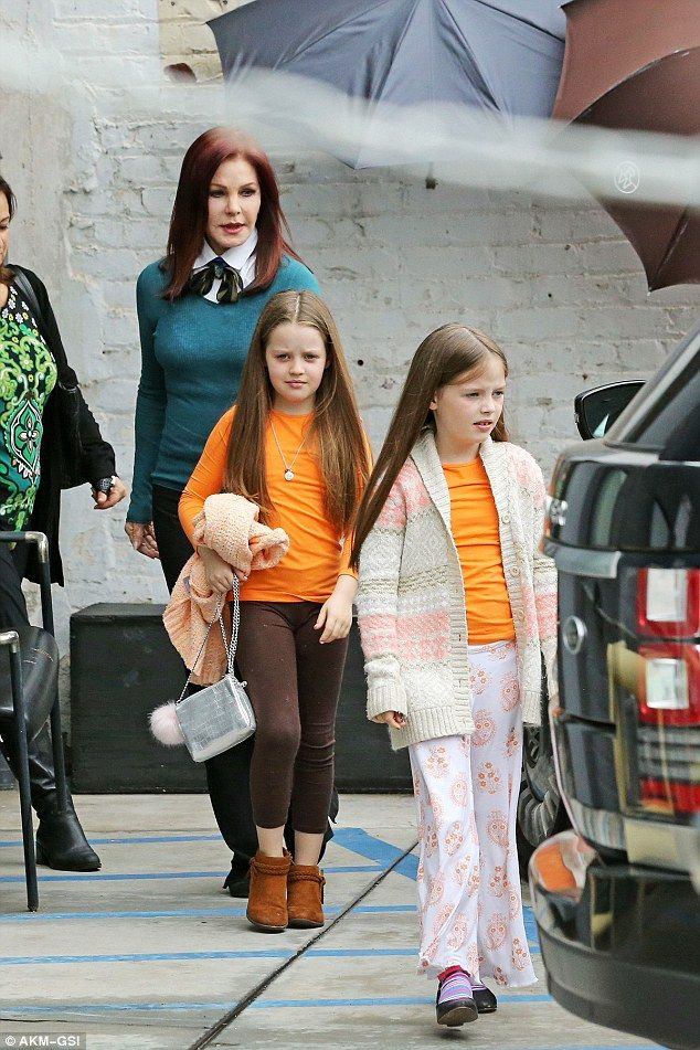 The 71-year-old Presley has taken responsibility for the sisters while her daughter Lisa Marie and her ex Michael Lockwood are embroiled in a bitter custody battle. On Tuesday The King's ex treated the girls to some pampering at Rossano Ferretti HairSpa in Beverly Hills