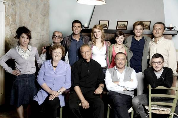 Terence Hill plus cast Backstage