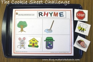 Cute rhyming activity. Two free rhyming templates with colorful pics.