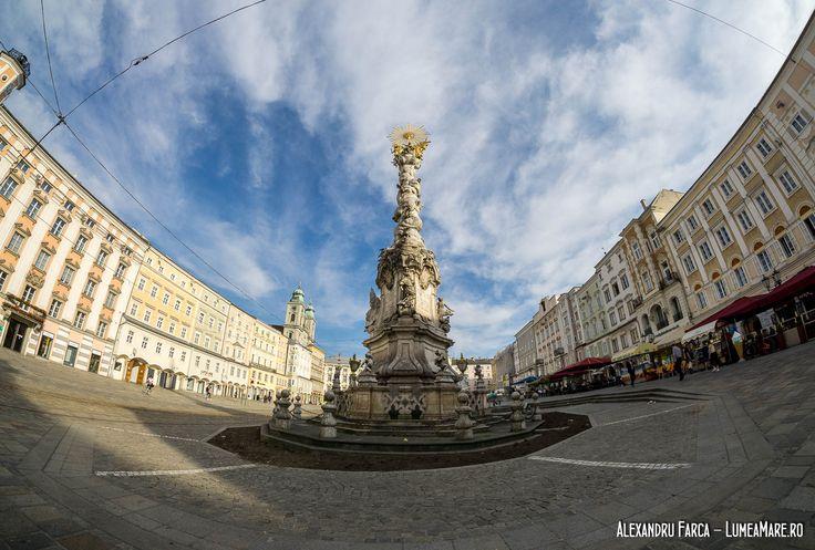 Linz - piața centrală din orașul vechi