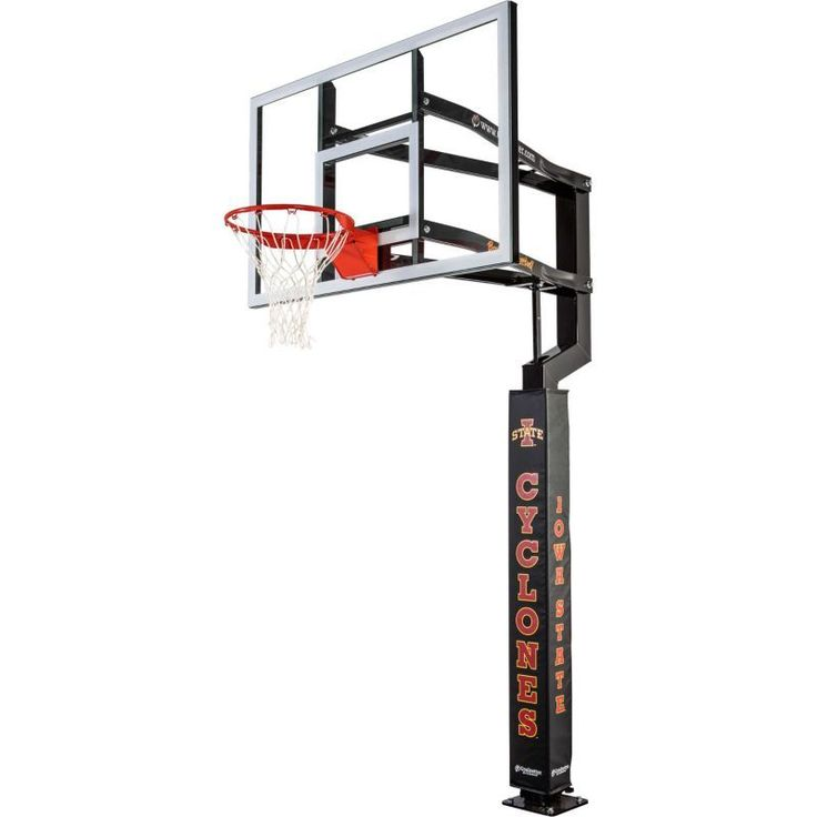 Goalsetter Iowa State Cyclones Basketball Pole Pad, Black