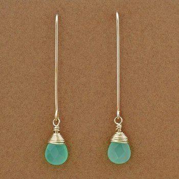 Blue Chalcedony Earrings | Elizabeth Plumb Jewelry