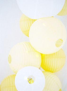 Idea: agrupa linternas de varios colores / Idea: group lanterns of various colours