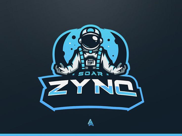 SoaR Zynq Astronaut Mascot Logo ChickenHunter Logos Astronaut Y Logo Design