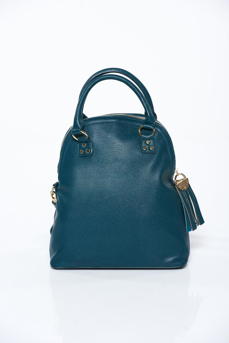 Top Secret darkgreen bag casual from ecological leather, upper material: ecological leather