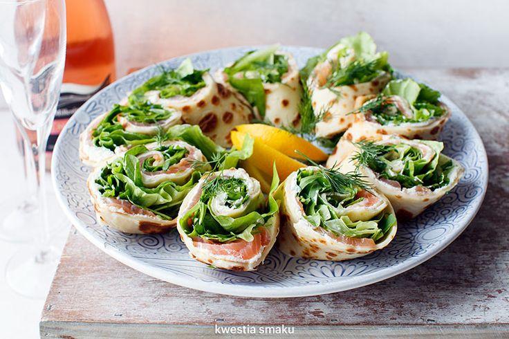 Smoked Salmon, Dill & Horseradish Cottage Cheese Pancake Wraps