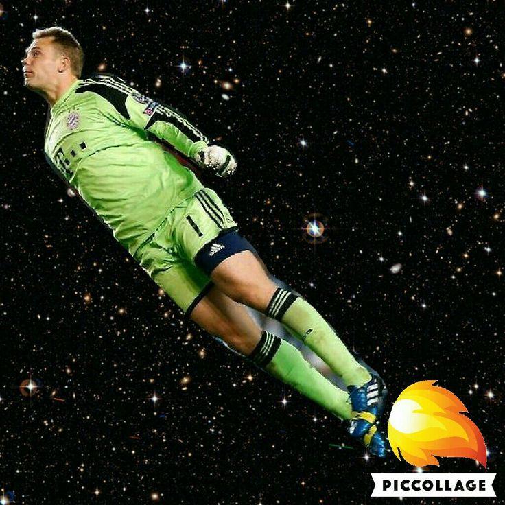 Manuel Neuer as a rocket XD
