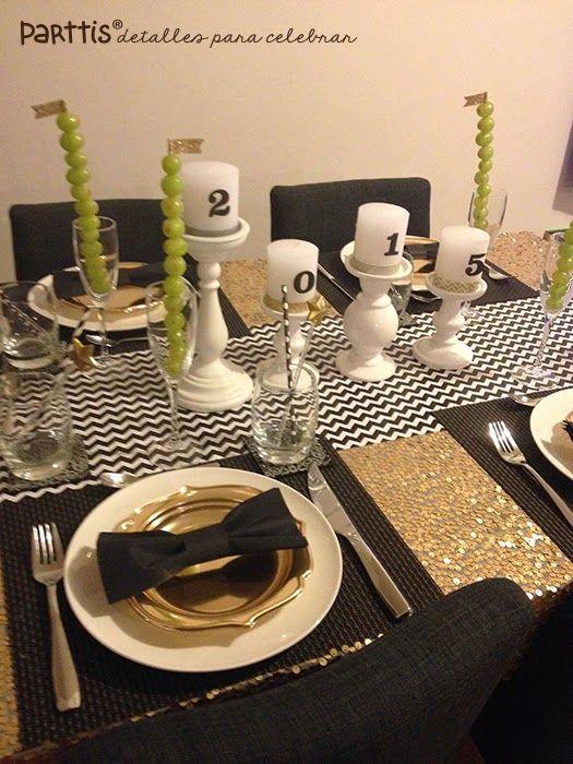 PARTTIS: Ideas de decoración para una mesa de año nuevo