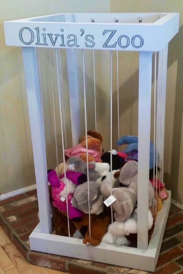 Zoo toy storage, toy box, stuffed animal holder, zoo animal cage, storage for stuffed animals, zoo animal hammock, toy crate, zoo toy box by KBcreationsandgifts on Etsy https://www.etsy.com/listing/478819137/zoo-toy-storage-toy-box-stuffed-animal