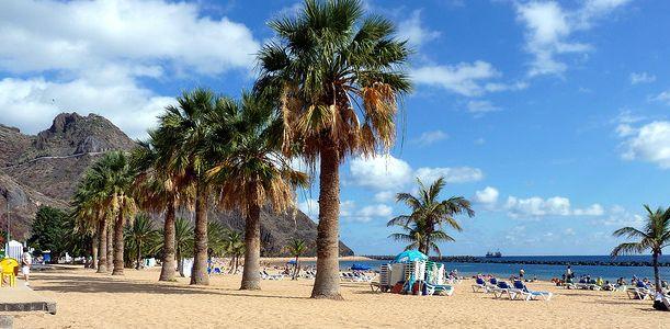 January weather on Las Teresitas beach