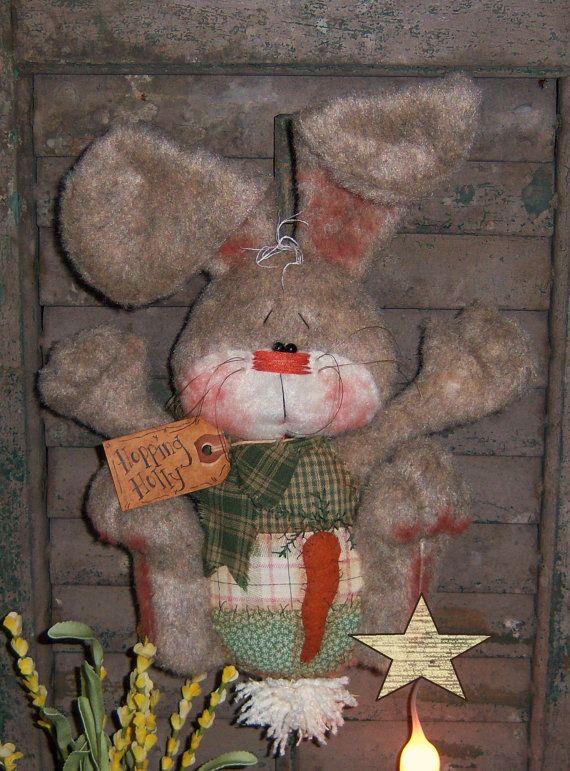 Primitive Patti's Ratties Bunny Rabbit Egg Easter por pattisratties