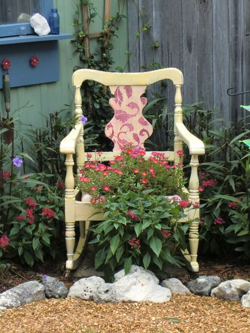 238 Best Images About Chair Planters On Pinterest