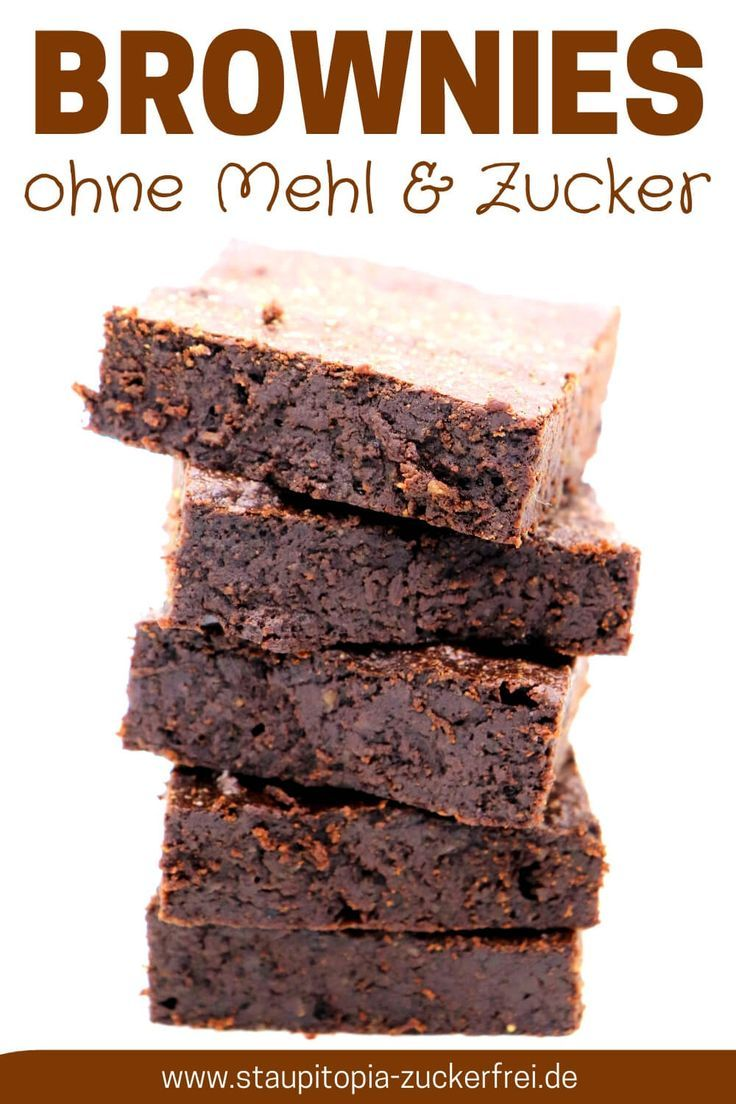 Brownies ohne Zucker und Mehl
