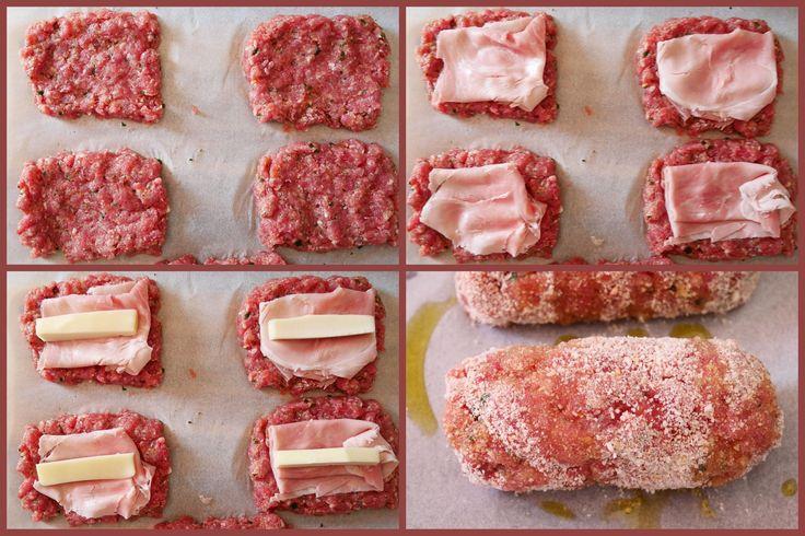 Mini polpettoni ripieni di prosciutto e formaggio