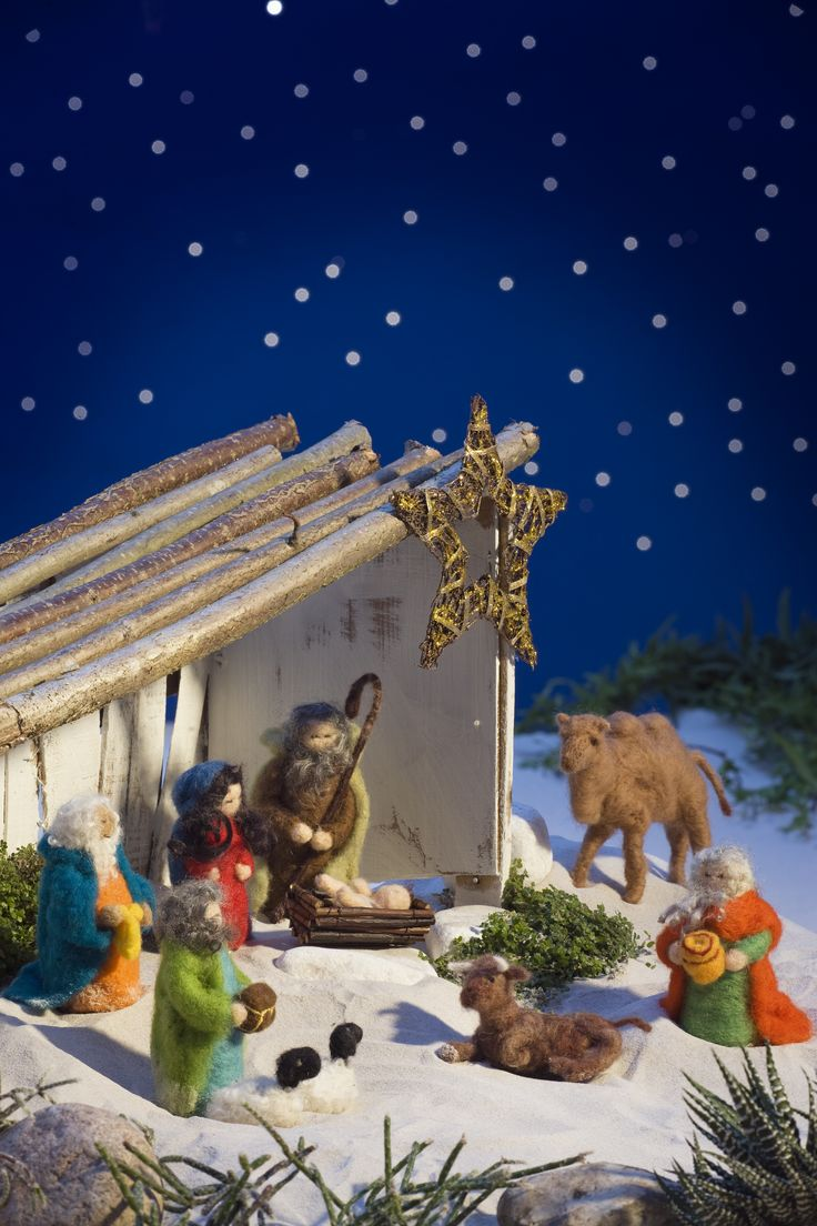 101ideer.se filtad julkrubba jul christmas filted nativity scene