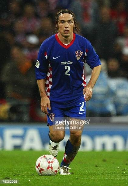 Dario Simic of Croatia in action during the Euro 2008 Group E qualifying match between England and Croatia at Wembley Stadium on November 21 2007 in...
