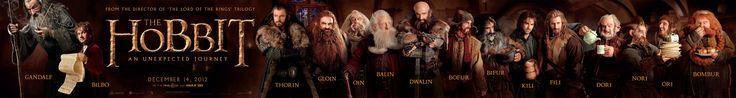 "New Hobbit scroll poster from Warner Bros. I like Kili, the ""sexy"" dwarf. LOL."