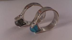 anillo plata y cristal de murano