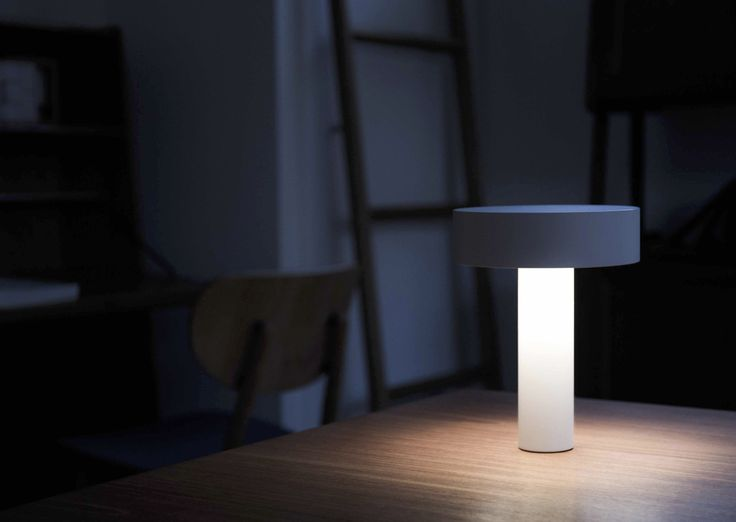 Designed by Davide Groppi, the PoPuP Orchestra table light is a table lamp with an audio speaker and a magnetic base. The table lamp provides warm and ambient light making the surrounding space warm and cozy. See more ombre lights at LightForm.ca