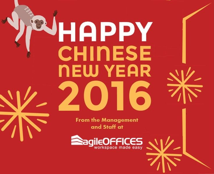 Wishing our clients a Happy Chinese New Year! #monkey #2016 #agileoffices