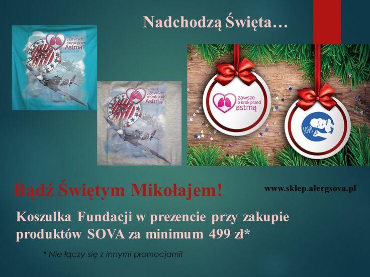 Zapraszamy Was do zakupu fundacyjnej koszulki. Każdy z Was może być Spitfirem. Z okazji grudniowych świąt możecie sprawić, że Spitfirem stanie się bliska Wam osoba. Środki finansowe pozyskane z zakupu koszulki są przeznaczane na wsparcie prowadzonych przez Fundację akcji edukacyjnych.  Tu możecie zakupić koszulkę: http://www.sklep.alergsova.pl/pl/39-spitfire-koszulka-fundacji