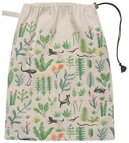 Danica Studio Cotton Travel Tote Drawstring Bag, Secret G...