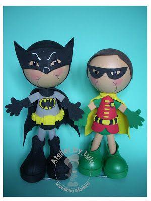 Fofuchos Batman  Robin en los 60's
