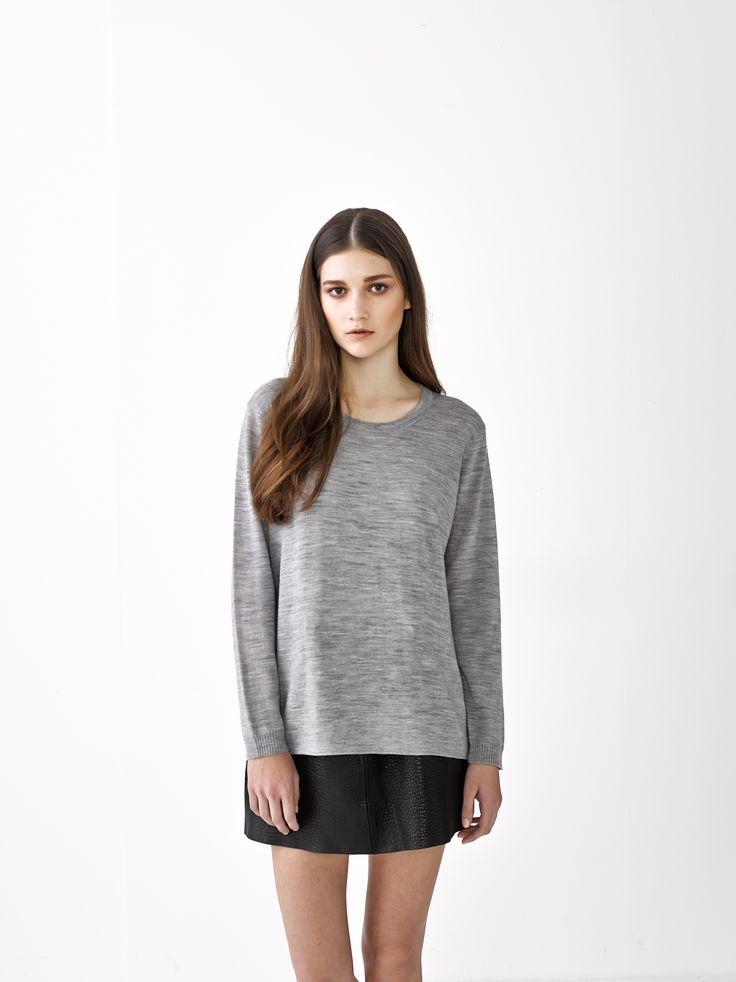 Anna Sweater / Grey Marle