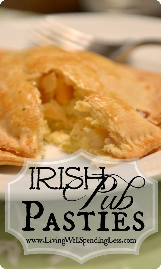 Irish Pub Pasties {Cabbage Pies} Great St. Patricks Day Recipe! Can make it meaty or vegetarian (or some of each!)#Irish #Recipe #Vegetarian