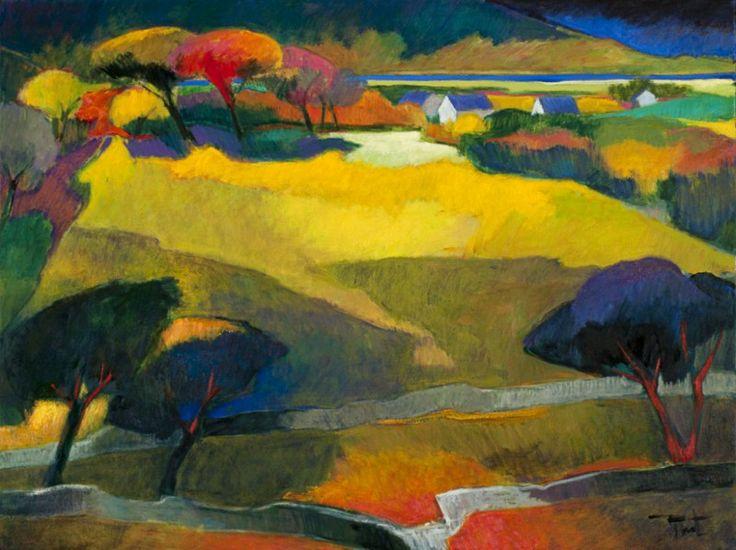 Paysages d 39 irlande 30x40 art medium acrylic and oil pinterest normandie - Les plus beaux tableaux abstraits ...