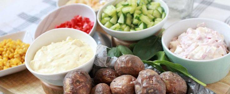 Bakad potatis med två krämiga röror - City Gross