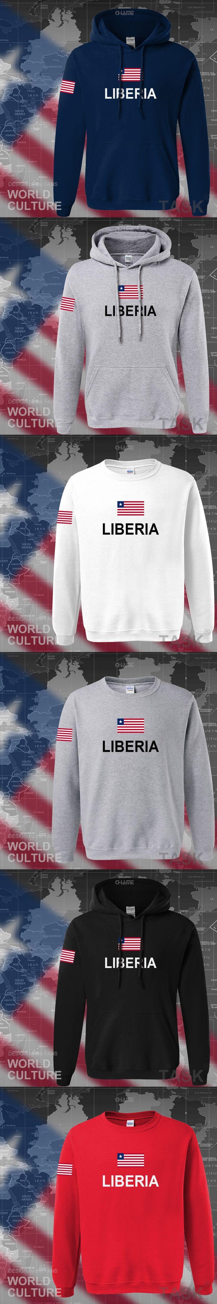 Liberia Liberian hoodies men sweatshirt polo sweat new hip hop streetwear flag nation team country tracksuit nation 2017 LR LBR