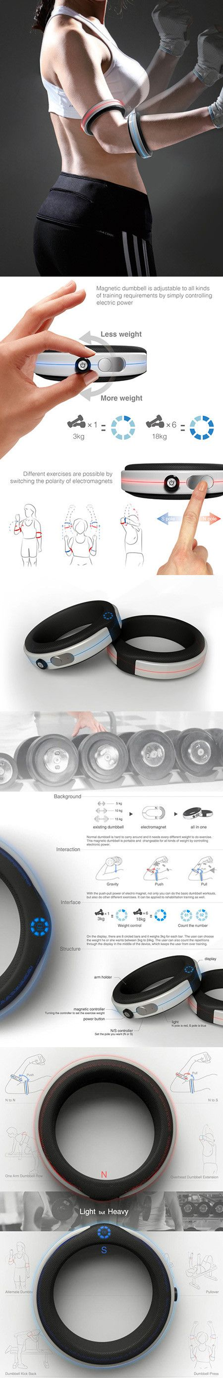 O2 Magnetic Dumbbells Can Be Worn Like Bracelets, Adjustable to 52-Pounds - TechEBlog