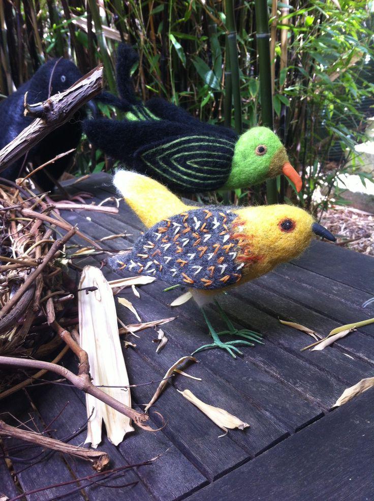 two felt birds - Elaine Beechey