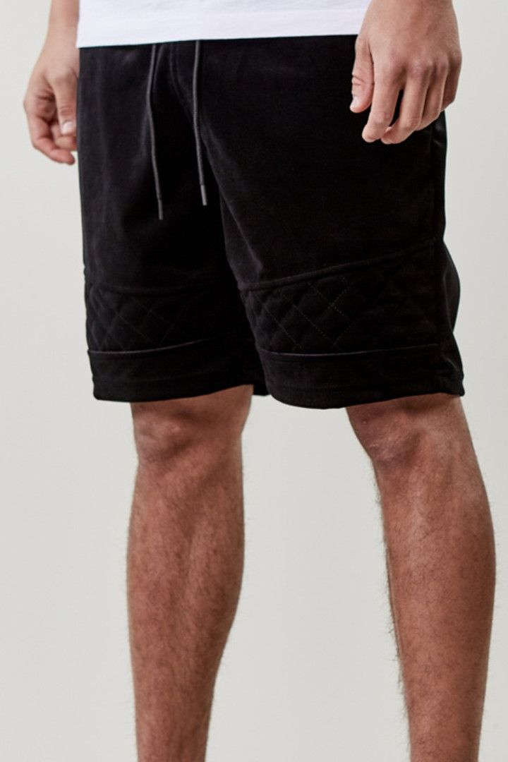 CAYLER & SONS NEW AGE VELOUR SHORTS – BLACK