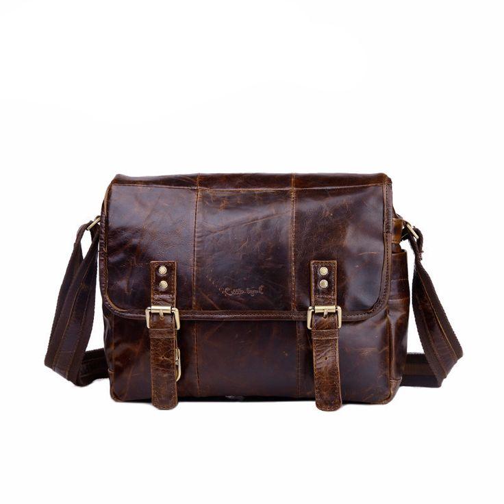 Designer Men's Genuine Leather Briefcase Male Vintage Handbags For Men Shoulder Bag Crossbody Bag