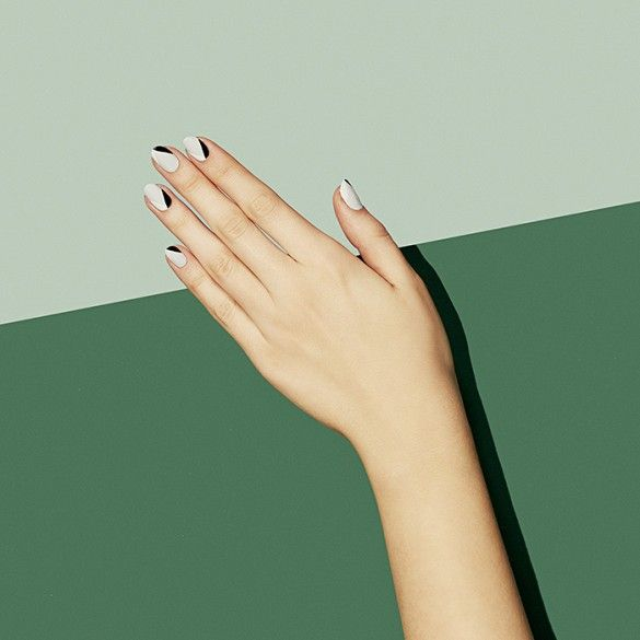 Geometric nail design // Paintbox Spring '15 Collection