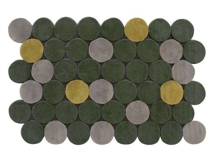 Wool rug with geometric shapes CÍRCULOS Hand Tufted Collection by GAN By Gandia Blasco | design José Antonio Gandía-Blasco
