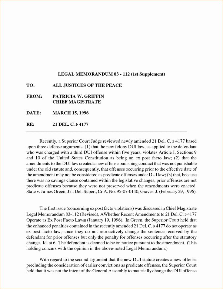 Sample Legal Memo format New 7 Memorandum Of Law Sample in
