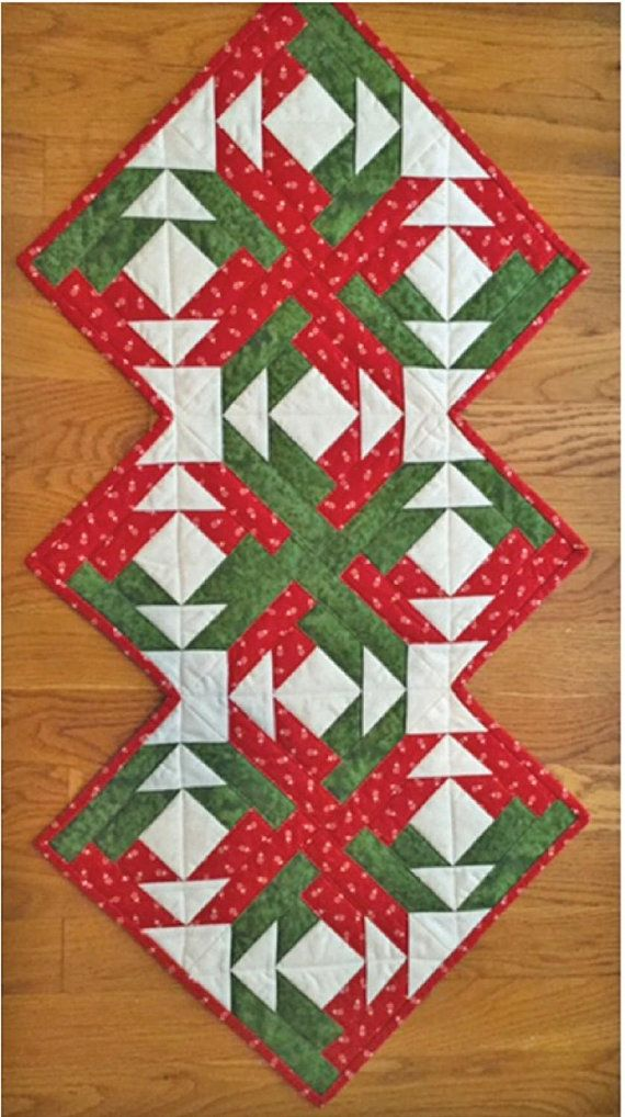 On Point Quilted Table Runner Pattern Table Quilt Topper Etsy Table Runner Pattern Quilted Table Runners Patterns Quilted Table Runners