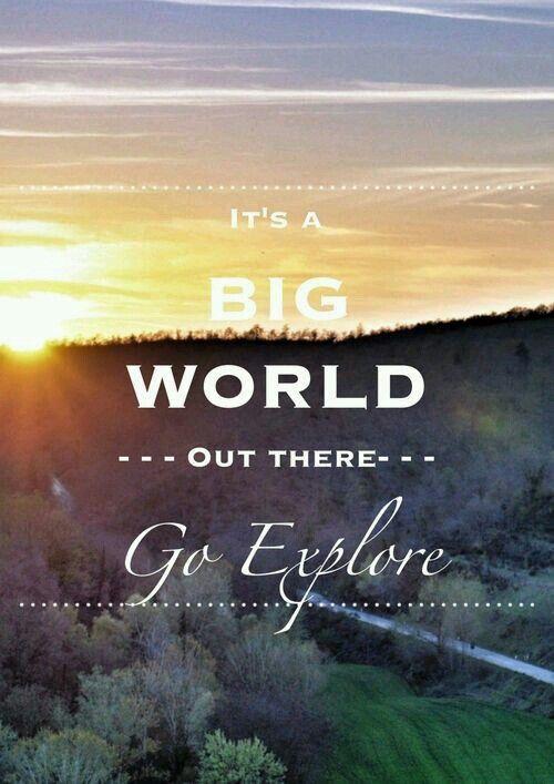 Explore. Solo travel quote