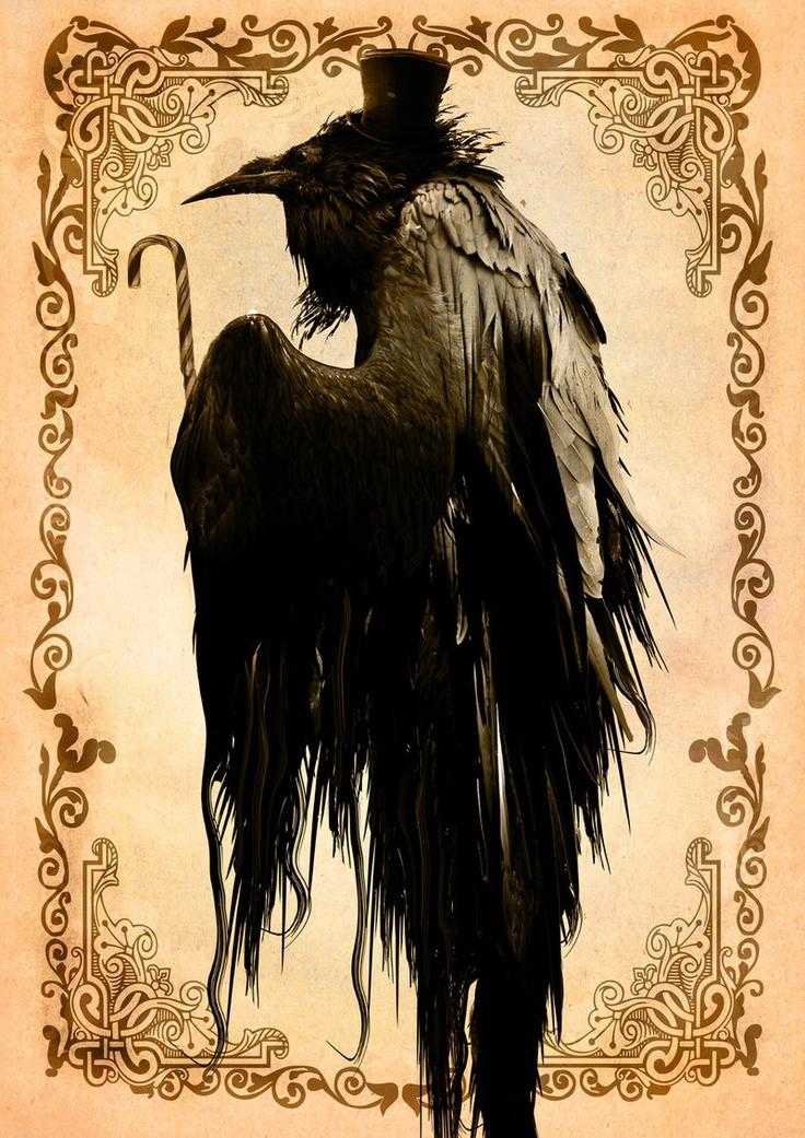 raven crow half man - photo #43