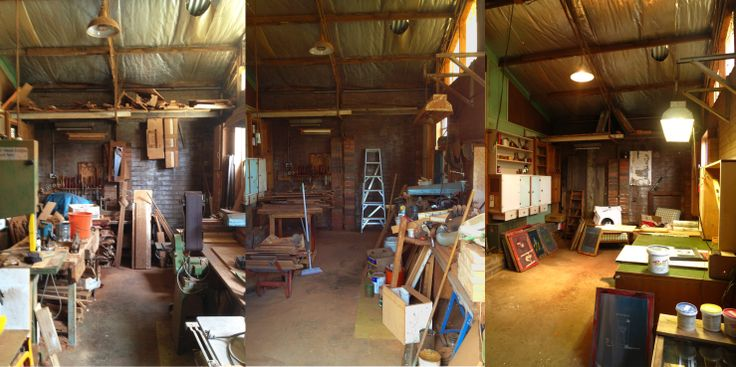 Previously a carpentry shed, the S&A workshop took many hours to be converted into a screenprinting studio.
