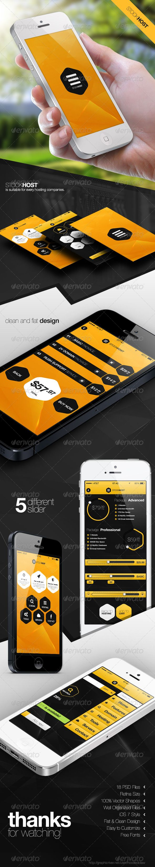 stock host retina mobile user interface
