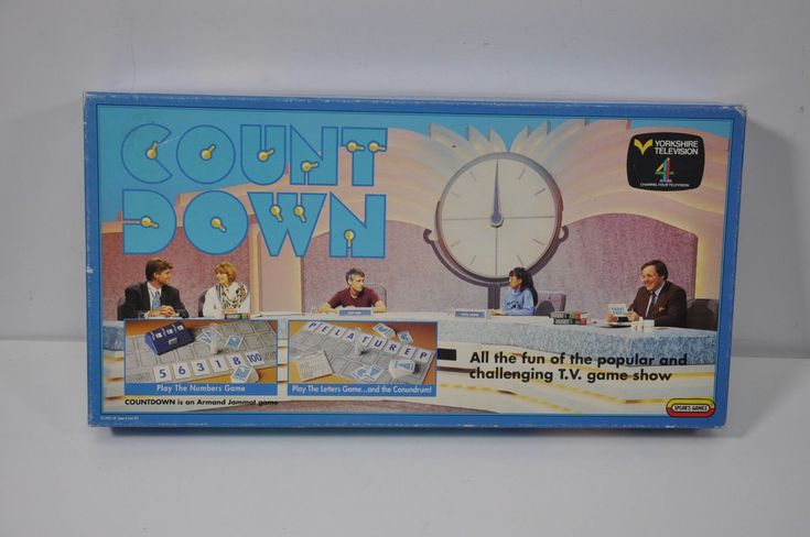 Count Down - Fun Family Board Game by Spear's Games Retro   eBay