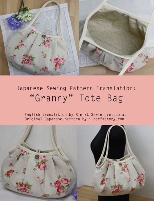 Japanese Granny-Bag-Translation to Engish TUTORIAL AND PATTERN :: Tutorial de bolso japonés en inglés