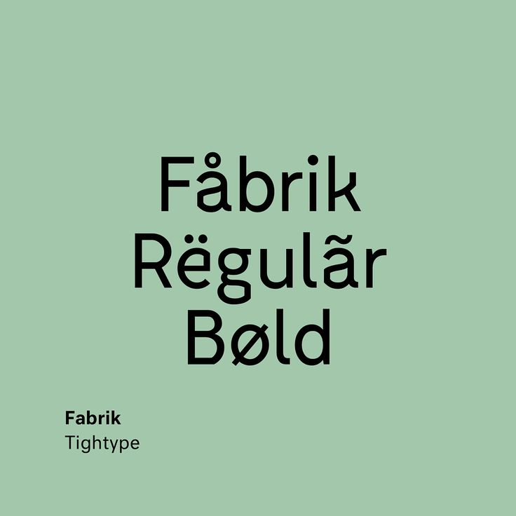 """732 Likes, 19 Comments - Type Type (@type__type) on Instagram: """"Fabrik by Fabian Fohrer @tightype . . . . . . . . . . #fabrik #tightype #bold #type #typography…"""""""