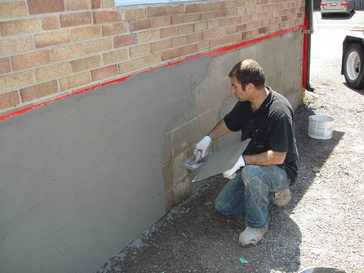 how to prepare a fondation wall for parge