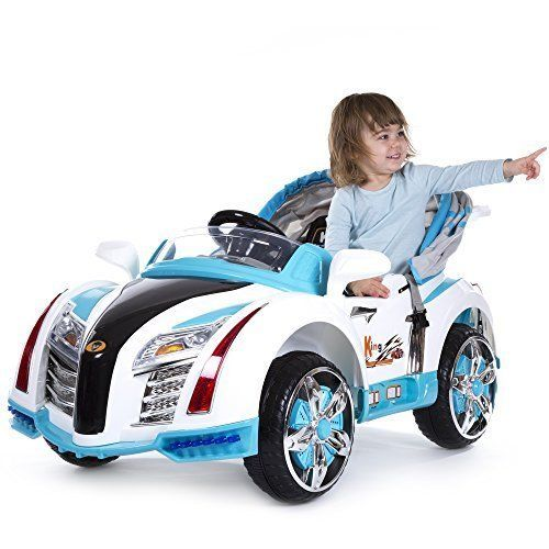 Future Style Power Wheels Car for Kids Battery Cars Canopy Gift Ideas for Boys #ROCKINROLLERS